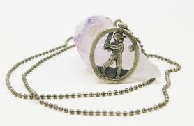 baseball player pendant necklace