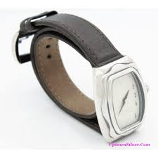 silpada thats a wrap watch brown leather band stainless steel 925 silver water resistant boho stye