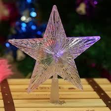 Paradise 2 In 1 Rotating Party Light 1 Pcs Hogar Paradise Color Changing Xmas Christmas Tree Topper Star Shiny Rotating Light Party Led Lamp Decoration