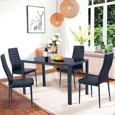 dining room chairs set of 4 5 piece dining table set 4 chairs gl metal kitchen