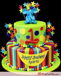1st Birthday Boys Elephant Cake