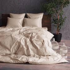 Купить <b>Комплект постельного белья</b> Сатин-Страйп <b>песочный</b> ...