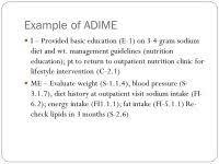 Adime Charting Example Progress Notes