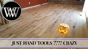 how to install solid hardwood flooring with hand tools white oak floors woodworking the hard way