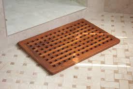 24 grate teak shower mat