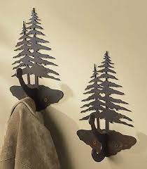 Evergreen Coat Rack Bear Silhouette Coat Rack with Shelf Wild Wings 51