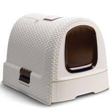 hagen catit hooded cat litter box. Curver Hooded Cat Kitten Pet Litter Box Toilet Loo 51x38.5x39.5 Cm White Hagen Catit