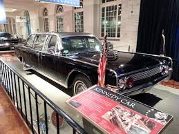 ford president car. the actual car president kennedy was riding in when he assassinated is on display at ford