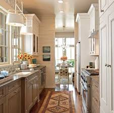 ... and task lighting under the cabinets are most important for creating a  bright galley kitchen layout that is both aesthetically pleasing and  functional.