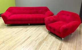 red gondola sofa and chair sweet
