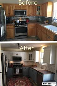Two Toned Cabinets Valspar Cabinet Enamel From Lowes 2 Tone Kitchen