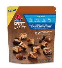 Sweet & Salty <b>Dark Chocolate Sea</b> Salt Caramel Crunch <b>Bites</b> | Atkins