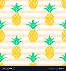Summer Pattern Unique Summer Pineapple Pattern Design Pastel Colors Vector Image