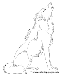 Cartoon Animal Howling Wolf Coloring Pages Printable
