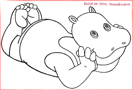 Coloriage De Hippopotame Gratuit A Imprimer Hippo Dessins A