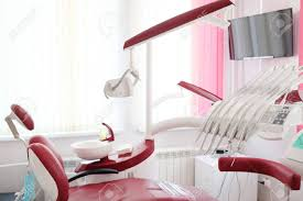 dental office interior design. Modren Office Dental Clinic Interior Design With Red Chair And Tools Stock Photo   37860586 With Office Interior Design
