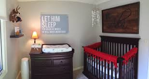 wooden baby nursery rustic furniture ideas. Natural Component Rustic Baby Nursery Floor Wall Red Garnished Wooden Bedding Black Color Lamps Simpel Furniture Ideas E