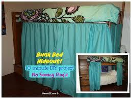 bunk bed hideout with no sew curtains