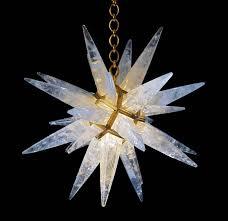 rock crystal star chandelier by