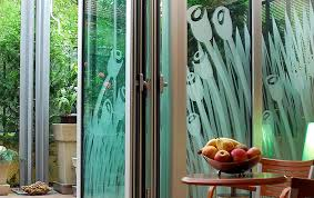 frosted glass doors