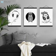 black and white wooden wall art