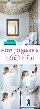 Diy Canopy Bed Diy No Sew Canopy Bed Canopy Editor And Fabrics