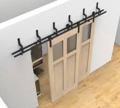 Double Track Sliding Barn Doors Amazing Bypass Wood Door Hardware ...