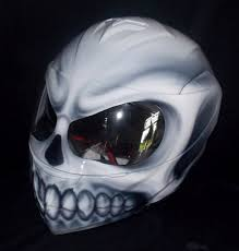 skull modular helmet custom made white walker custom airbrush helmet