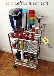 fabulous fashions 4 sensible style get crafty diy cofffe and bar cart for 35 attractive coffee bar home 4