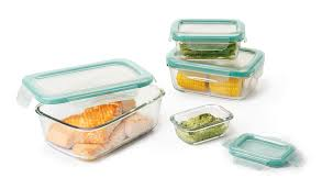 8 piece smart seal glass rectangle container set
