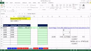 Hours Worked Calculator Excel Magic Trick 24 Calculate Hours Worked From Text Time Values 7