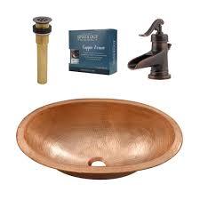 copper sink faucet. Modren Copper SINKOLOGY Strauss AllinOne Undermount Or DropIn Bathroom Copper Sink  Design In Faucet