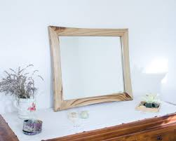 wood mirror frame. Picture Frame- Modern Mirror- Wood Color- Chestnut Wood- Mirror Classic 55x60. Frame