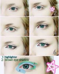 here s the anime eye makeup tutorial i promised i tried to keep it
