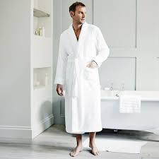 White Dressing Gown Mens