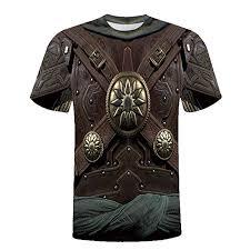 Amazon Com Sagton Men Warrior Costume 3d Print Funny T
