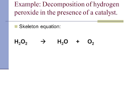 chemical equations chemistry mrs coyle station 6 potassium iodide and hydrogen peroxide