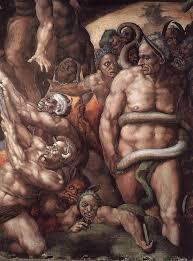 michelangelo buonarroti last judgment detail 1537 41 fresco cappella sistina vatican michelangelo artworkfamous paintings