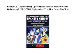 Digimon Digivolution Chart Season 1 Read Pdf Digimon Story Cyber Sleuth Hackers Memory Game