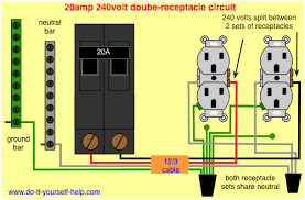 circuit breaker wiring diagrams do it yourself help com wiring 20 amp double receptacle circuit breaker this diagram illustrates the arrangement for