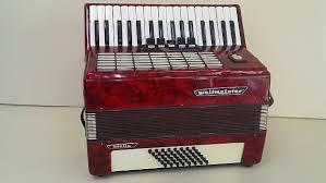Vintage Old Original German Made Weltmeister Stella 48 Bass Piano Accordion Vintage Old Original G