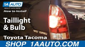 2008 Toyota Tacoma Brake Light Bulb How To Replace Taillights And Bulbs 05 12 Toyota Tacoma