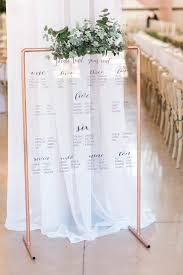 The Sheldon Seating Chart Acrylic Seating Chart With Gold Easel And Greenery