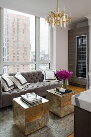 add glam touches with such chic brass square cubes and a chic brass chandelier