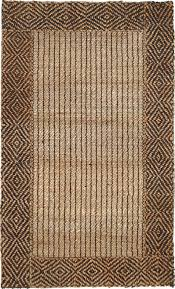 300 7460 rug from natural fiber braided border jute by classic