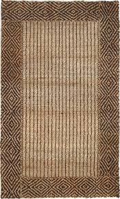 classic home natural fiber braided border jute 300 7460 rug