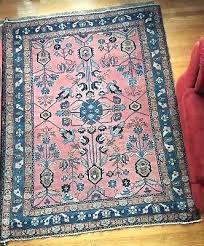 2 of 4 vintage antique pink blue turquoise oriental rug hand knotted wool and persian