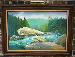 Excellent Herbert Cantrell, American, 1977 Oil on Canvas 43x32 | eBay