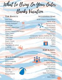Vacation Checklist Checklist What To Bring On Your Outer Banks Vacation