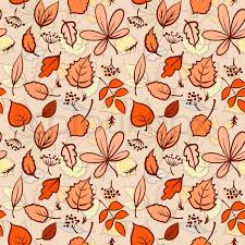 Fall Leaf Pattern Best Seamless Autumn Leaves Texture Pattern Vector Background Stock